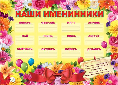 Плакаты с днем рождения класса