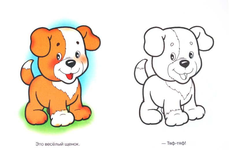 Раскраска для малышей: Домашние животные. Кисонька ...